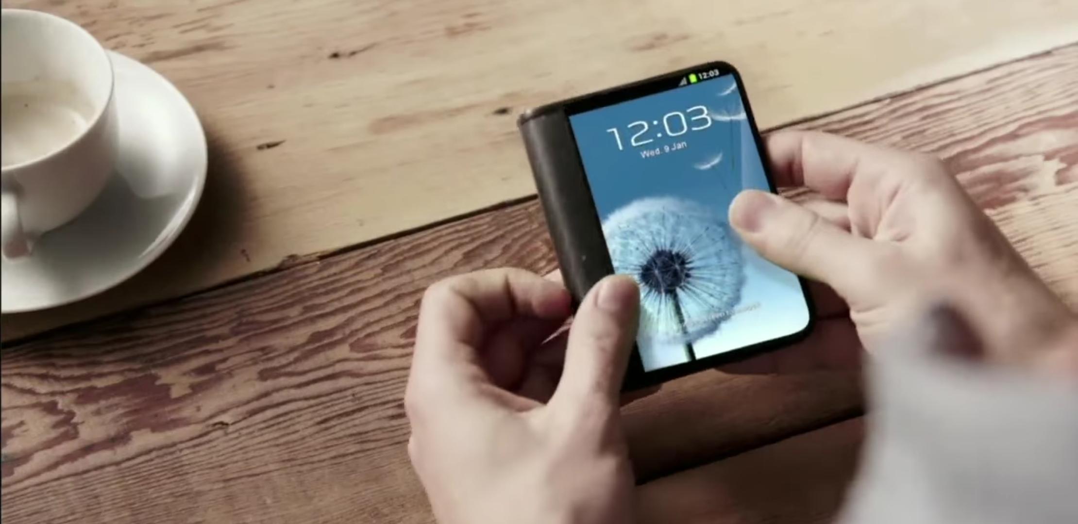 concept smartphone pliable