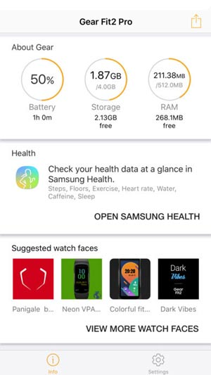 Gear Fit iOS