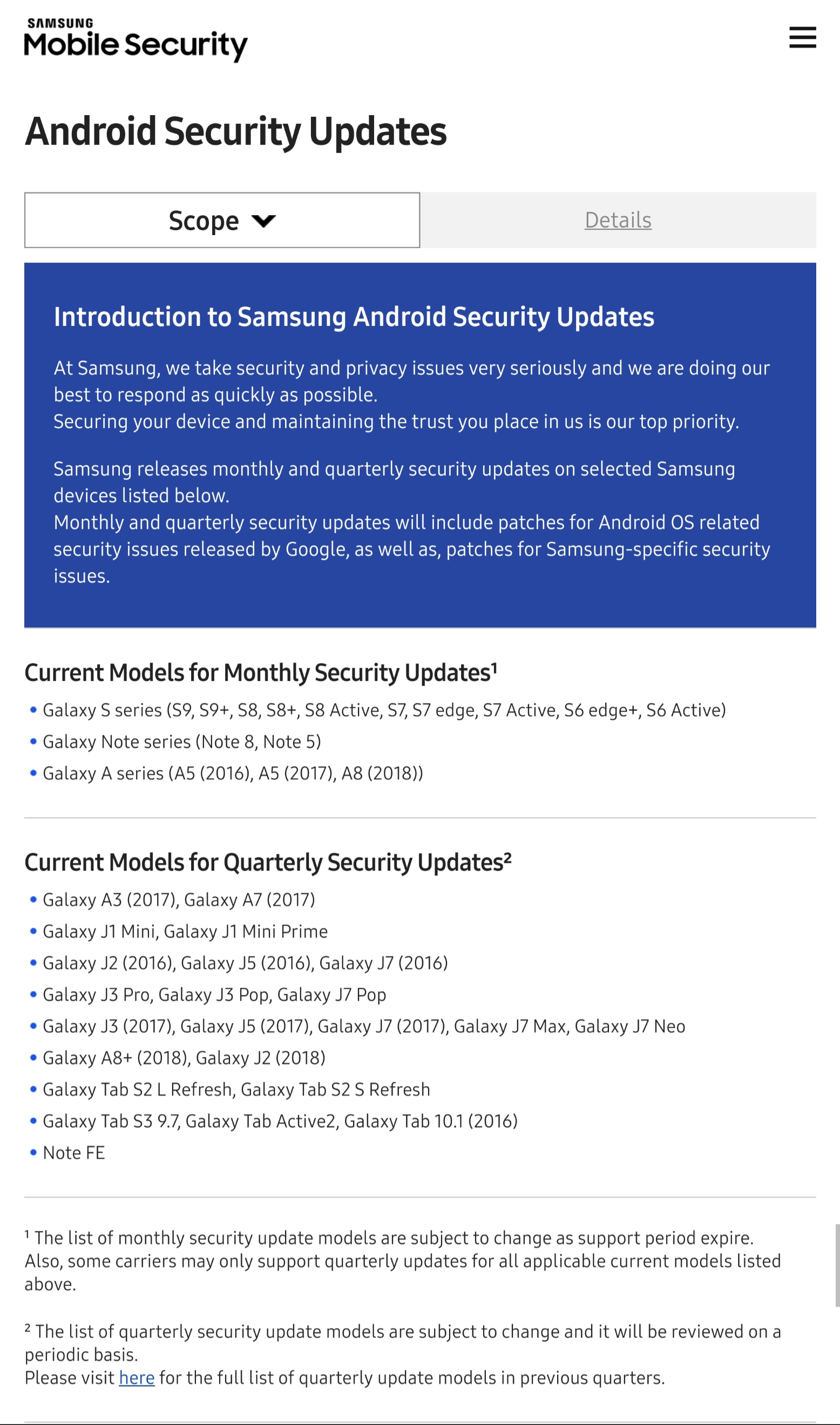Samsung Mobile Security