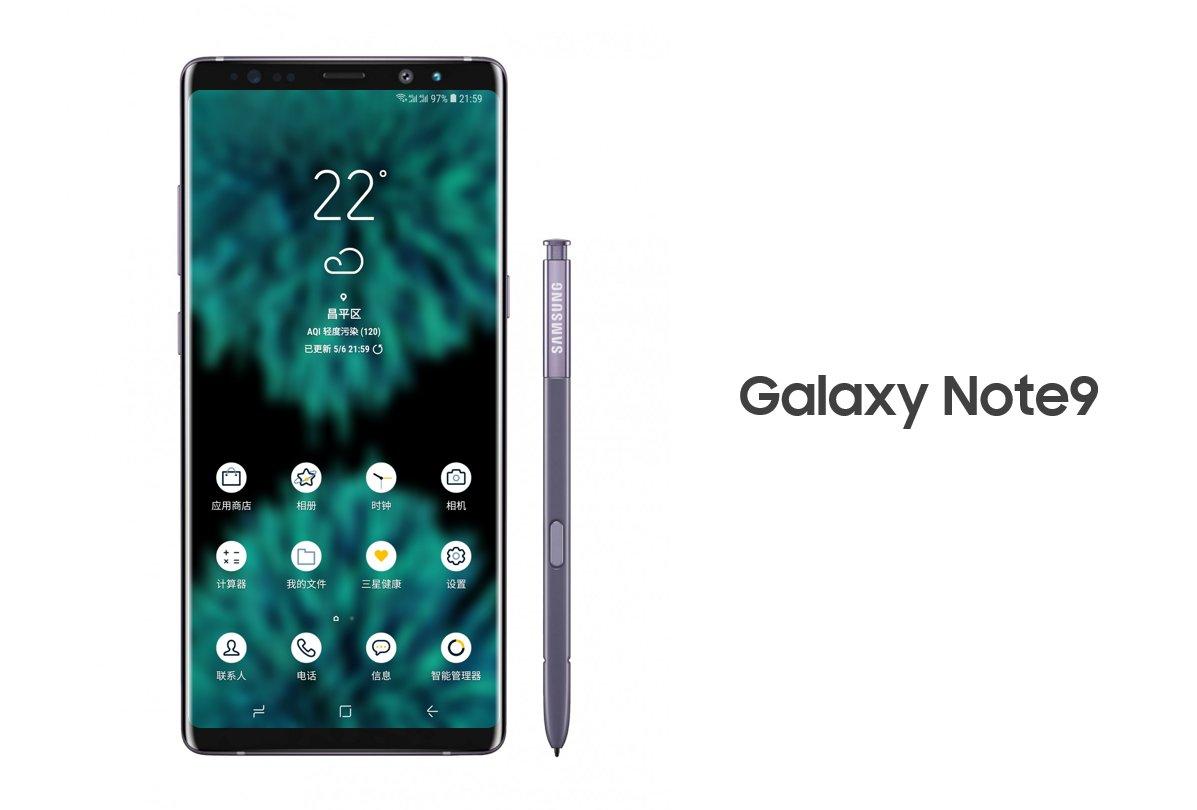 Galaxy Note 9 rendu