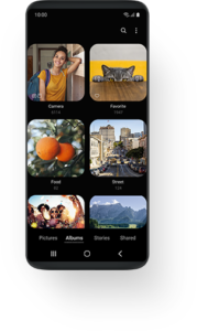 Application Galerie sous One UI
