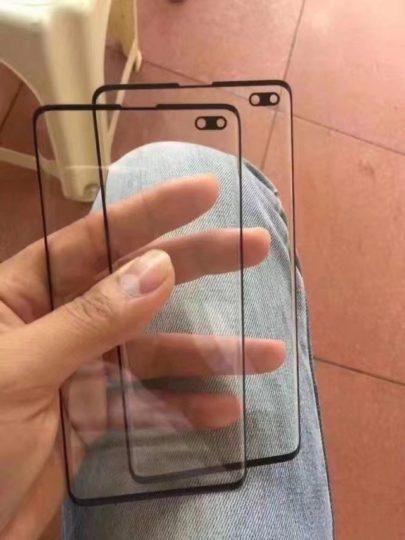 Protection d'écran supposée du Galaxy S10+