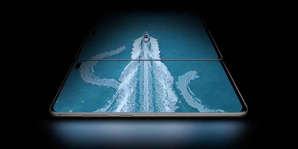 écrans des Galaxy S10