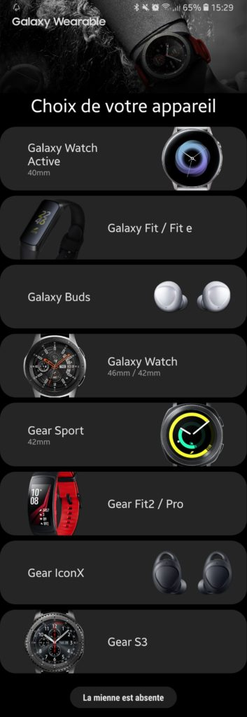 Application Samsung Watch