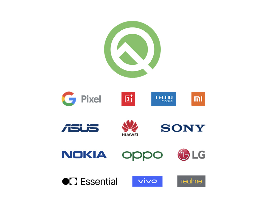 Android Q bêta partners