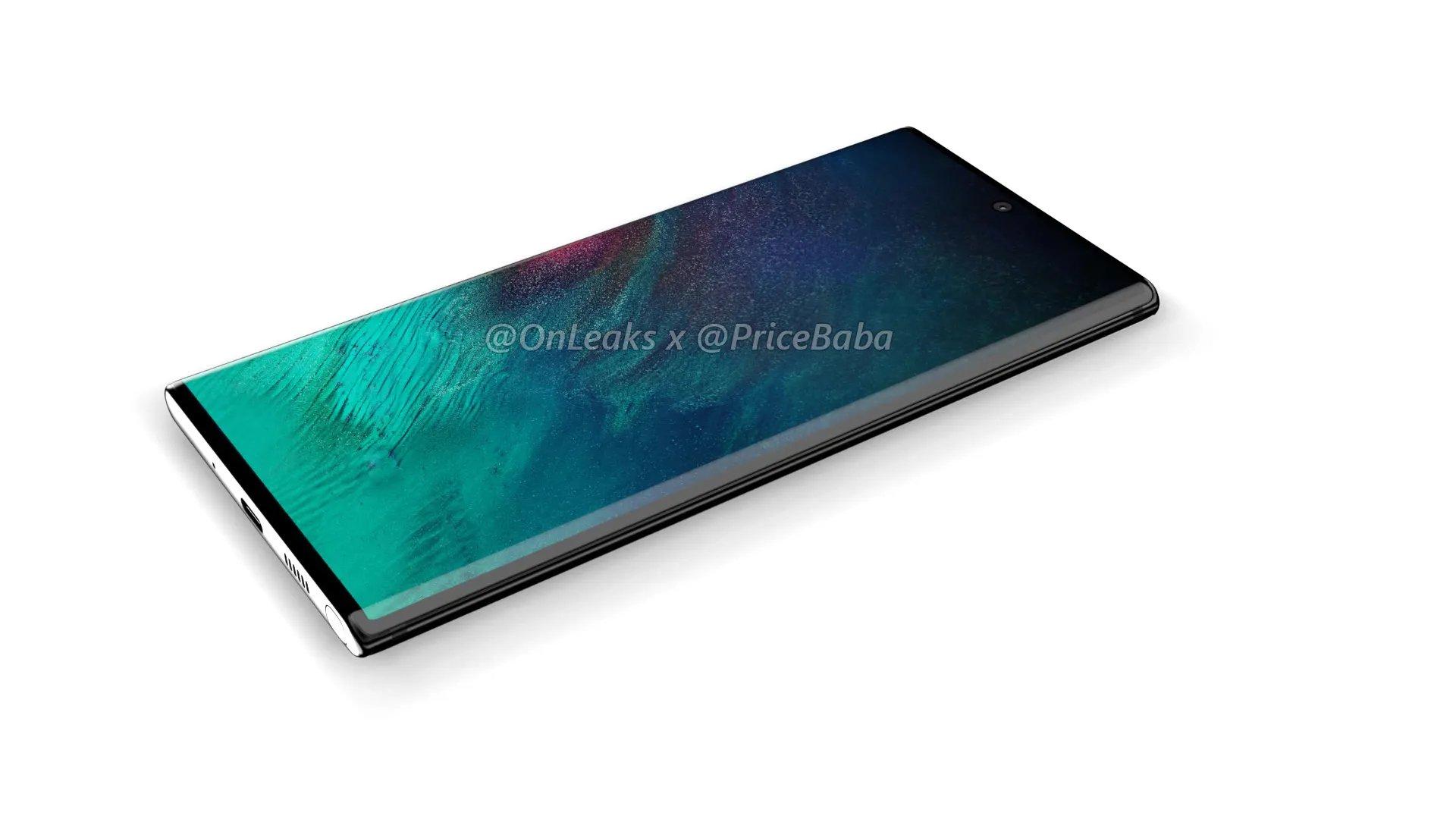 Rendu du Galaxy Note 10 Pro
