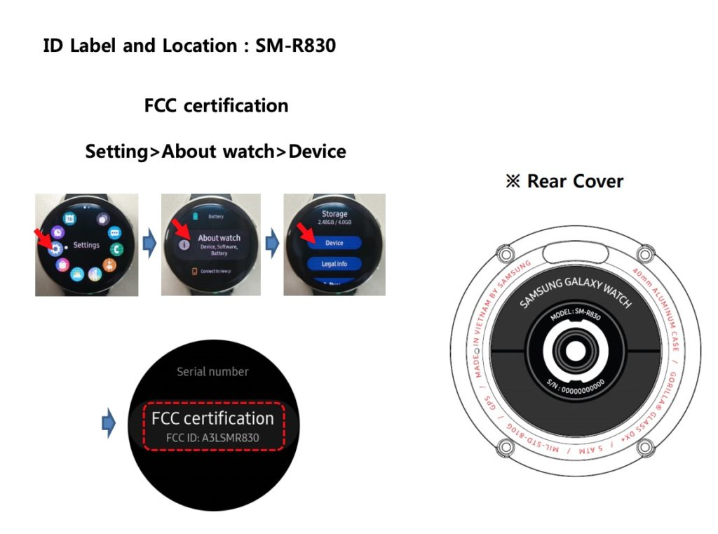 Galaxy Watch Active 2 FCC