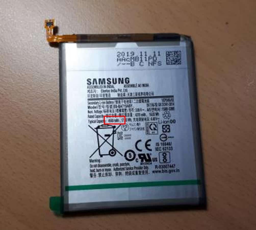 Batterie du Galaxy A71