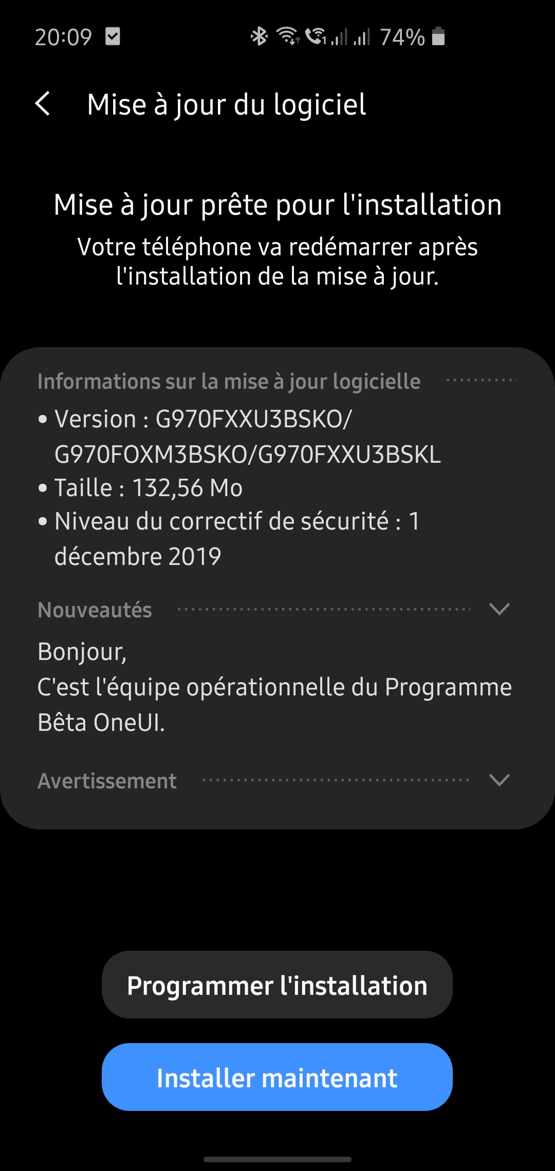 Android 10 S10e France