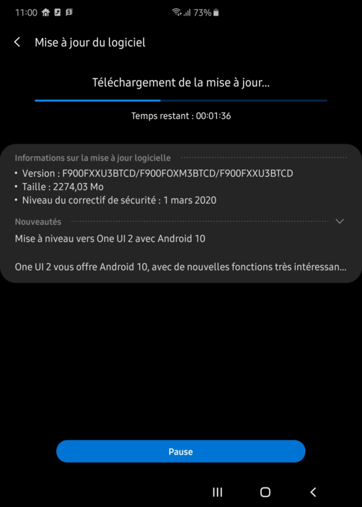 Galaxy Fold Android 10