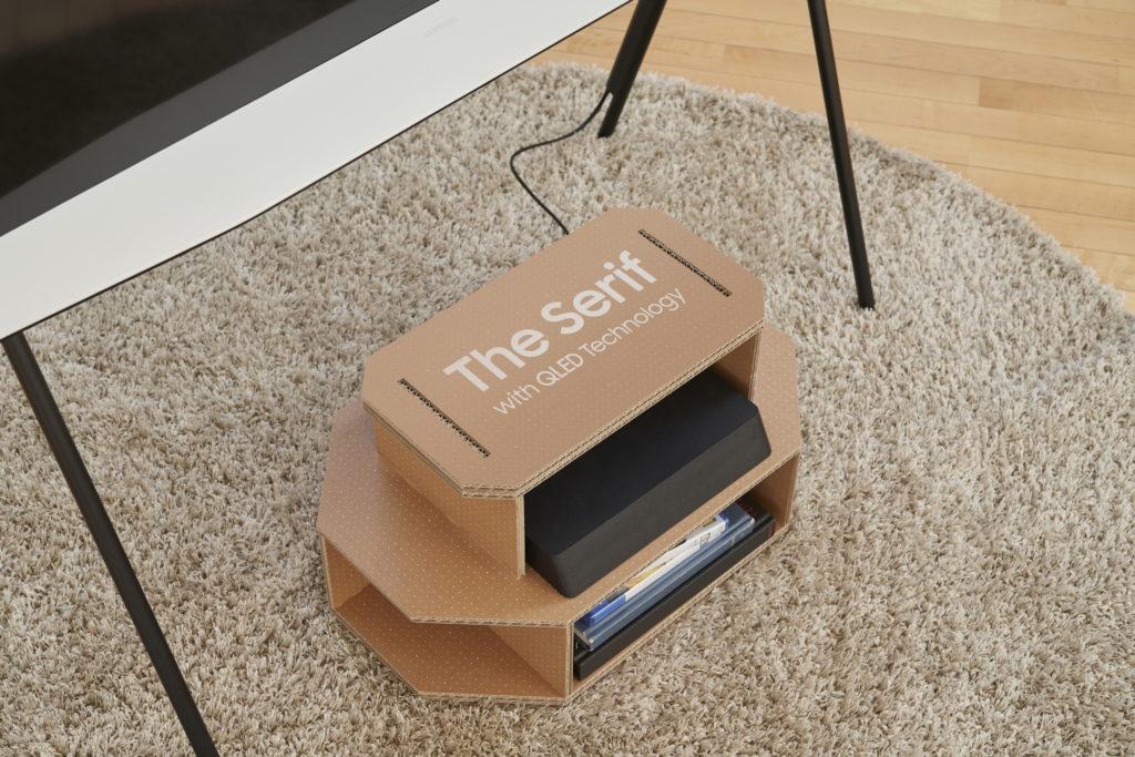 emballage écologique Samsung TV