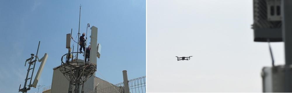 Drone pour les antennes 5G